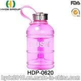 Portable 1000ml botella de agua deporte PETG de plástico con asa (HDP-0620)