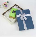 A cor azul-marinho luxo personalizada feita cachecóis Caixa de oferta