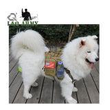 Chaleco arnés perro militar táctico con bolsas de Molle desmontable.