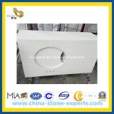 Witte Countertop van het Kwarts voor Keuken en Badkamers