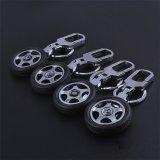 La promoción de la rueda de metal personalizados baratos Llaveros