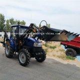 Venta caliente Dq504 50Cv 4WD Pequeña granja de la rueda de tractor con pala cargadora frontal