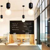 Estilo nórdico minimalista moderno Bar sala de jantar quarto LED da beira do lustre de vidro
