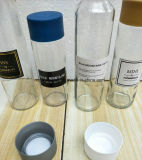 Água mineral Voss vaso de consumo de vidro com tampa de plástico
