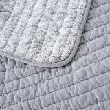 100% algodón bordado cubierta de la ropa de cama de impresión
