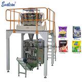 Vertical electrónico automático de polvo de líquidos llenado Bolsa Bolsa de azúcar en grano alimentos sólidos de la máquina de embalaje sellado de papas fritas con diferentes dispositivos de llenado