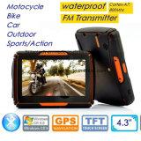4.3Inch Impermeable IP65 Deportes al aire libre acción Moto Moto coche navegación GPS con auriculares Bluetooth, transmisor de FM, WINCE 6.0, el Cortex-A7, 800MHz, el GPS-4350