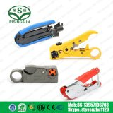 Rg59/RG6/RG11/jaune du câble coaxial RG7 Dénudeur de fil