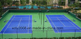 Pintura acrílica de la cancha deportiva multiuso Badminton