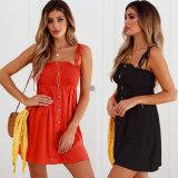 빨간 최신 판매 여자 및 까만 섹시한 미끄러짐 복장
