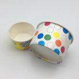 Мороженое йогурт чашки с логотипом, одноразовые бумаги мороженое с крышкой