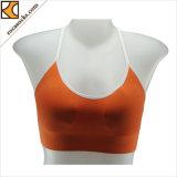 171007uw-moda señoras tiras coloridas Yoga sostén deportivo ropa deportiva