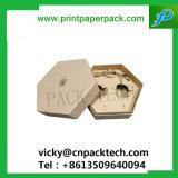Maat Natuurlijk Bruin Kraftpapier om de Verpakking van het Vakje van de Gift van het Vakje van de Juwelen van het Document van het Karton van de Hoed