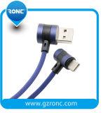 Doppio cavo Braided di nylon del USB del gomito di alta velocità 5V/2.1A