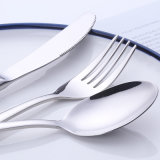 5 Pièce 18/0 coutellerie en acier inoxydable de la vaisselle couverts Set Couteau cuillère de fourche