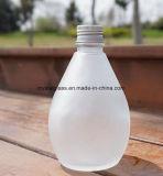 Weiße bereiftes Glas-Getränkeflasche mit Splitter-Schutzkappe