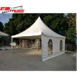 広州のテントの製造者の木のフロアーリングが付いているアルミニウムプロフィールPVC塔のテント