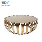 Muebles de acero inoxidable mesa de cristal Mesas de café mesa de sofá