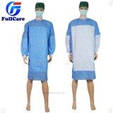 Нетканого материала/SMS/PP+PE/медицинская//клинике хирург/полиэтилен/PE/CPE/PP стерильным усиленные одноразовые хирургические платье, изоляции платье, одноразовые платье пациента