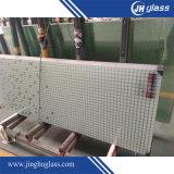 Vidrio de seguridad de la pantalla de seda de 3-12mm para la decoración de la pared