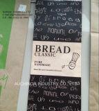 De grado alimentario resistente a la grasa pan envasado, bolsa de papel kraft para pan envasado