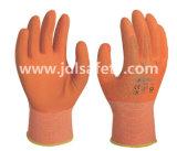 Полиэстер рабочие перчатки с красочным покрытием из латекса из пеноматериала (LR3018F)