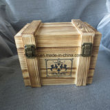 Rustic Finishing Customized Gift Packaging Box Caixa de madeira com compartimentos