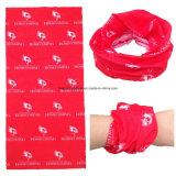 Soem-Erzeugnis passte Firmenzeichen-Schädel gedrucktes im Freiensport Customzied Bandana-Büffelleder an