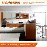 De moderne Witte Keukenkasten van de Douane van pvc voor de Decoratie van de Keuken