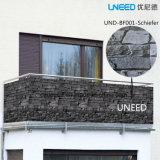 100%UV resistenza, rete fissa antivento del coperchio del PVC Balkon Sichtschutz di Schiefer 0.75m*6m