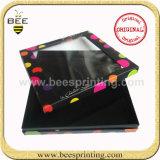 La moda de papel negro Caja con ventana PVC transparente