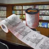 新型の屋内トイレのロールによって印刷されるトイレットペーパーの卸売の製造者
