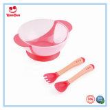 最もよい食事用器具類のセンサーのスプーンが付いている一定の赤ん坊の吸引ボール