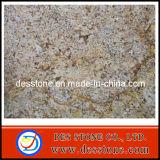 Encimera azulejo de oro de Persa de la losa del granito y de suelo (DES-GT036)