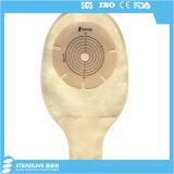China-Lieferanten-goldener Farbecolostomy-Beutel für Krankenhaus, maximaler Schnitt: 70mm