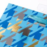 Los últimos bolsos promocionales del regalo del papel de la hoja del bolso de las bolsas de las bolsas de papel del mosaico del diseño
