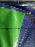 Housse de bâche de bâche PE, bâche en plastique bleu / vert