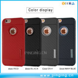 El caso del teléfono de fibra de carbono para el iPhone 6 6plus 7 7plus