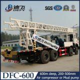 200m, 350m, 400m, 600m Truck Mounted Rotary Drilling Rig avec Mud Pump à vendre