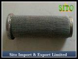 Filtro plissado S. inoxidável do filtro S. do cilindro do engranzamento de fio do aço