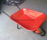 De hete Verkopende Op zwaar werk berekende Kruiwagen Wb6400 van het Wiel van de Bouw van het Metaal