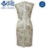Form-Frauen-Stickerei-Schlitz-Kleid
