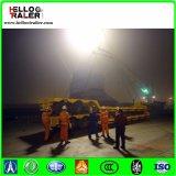China 50ton 3 Aanhangwagen van de Vrachtwagen van het Bed van Assen de Lage