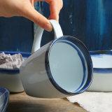 Part de l'artisanat et la plaque de course bleu Mug Set vaisselle