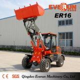 Новый дизайн мни-погрузчик Everun типа Er16 Aticulated колесный погрузчик