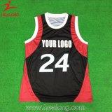 Preto novo da cor do projeto dos uniformes de Jersey do basquetebol do projeto