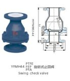 Válvula de verificação alinhada PTFE do balanço