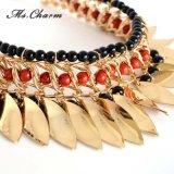 O vermelho de venda superior do preto dos Tassels do metal da Ouro-Cor perla colares