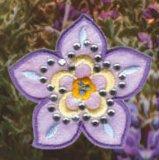 Le zone del ricamo di disegno del fiore