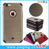 Caixa de alumínio escovada luxo do telefone de Motomo do metal para o iPhone 6/6s